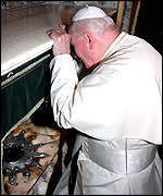 The Pope: drunk again.