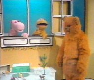 Geoffrey and Bungle prepare for a wild night out - 1981